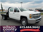 2018 Silverado 3500 Crew Cab DRW 4x4,  Reading Platform Body #18T565 - photo 1
