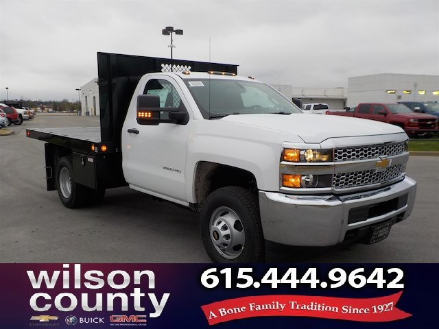 2019 Silverado 3500 Regular Cab DRW 4x4,  Monroe Work-A-Hauler II Stake Bed #19T138 - photo 1