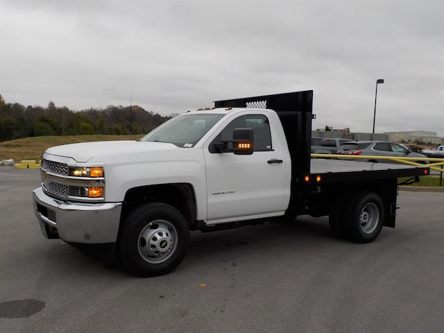 2019 Silverado 3500 Regular Cab DRW 4x4,  Monroe Stake Bed #19T138 - photo 4