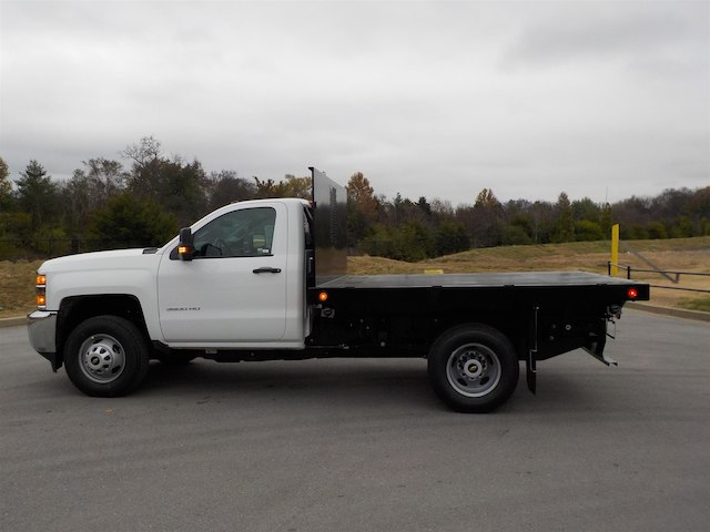 2019 Silverado 3500 Regular Cab DRW 4x4,  Monroe Work-A-Hauler II Stake Bed #19T138 - photo 5