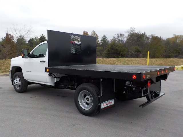 2019 Silverado 3500 Regular Cab DRW 4x4,  Monroe Stake Bed #19T138 - photo 6
