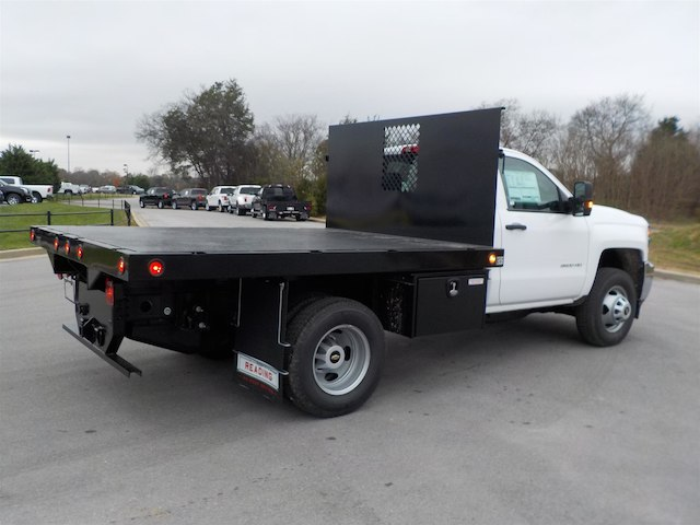 2019 Silverado 3500 Regular Cab DRW 4x4,  Monroe Stake Bed #19T138 - photo 2