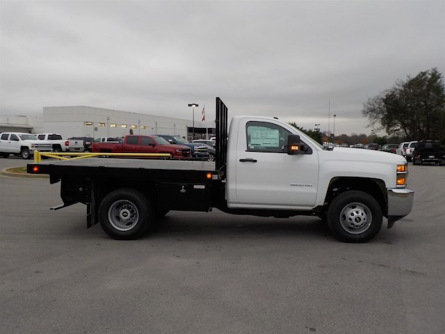 2019 Silverado 3500 Regular Cab DRW 4x4,  Monroe Stake Bed #19T138 - photo 8