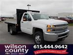 2019 Silverado 3500 Regular Cab DRW 4x4,  Monroe Stake Bed #19T138 - photo 1