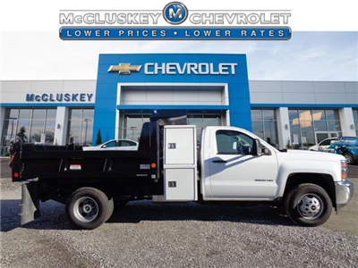 2016 Silverado 3500 Regular Cab DRW 4x4, Reading Marauder SL Dump Dump Body #162800 - photo 3