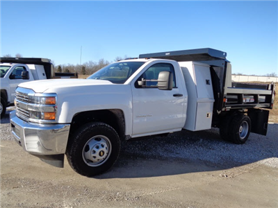 2016 Silverado 3500 Regular Cab DRW 4x4, Reading Marauder SL Dump Dump Body #162800 - photo 7