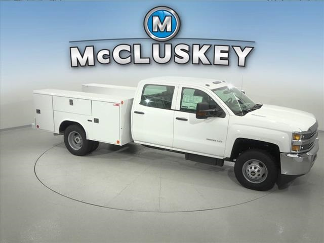 2016 Silverado 3500 Crew Cab DRW 4x2,  Reading Classic II Steel Service Body #162859 - photo 18