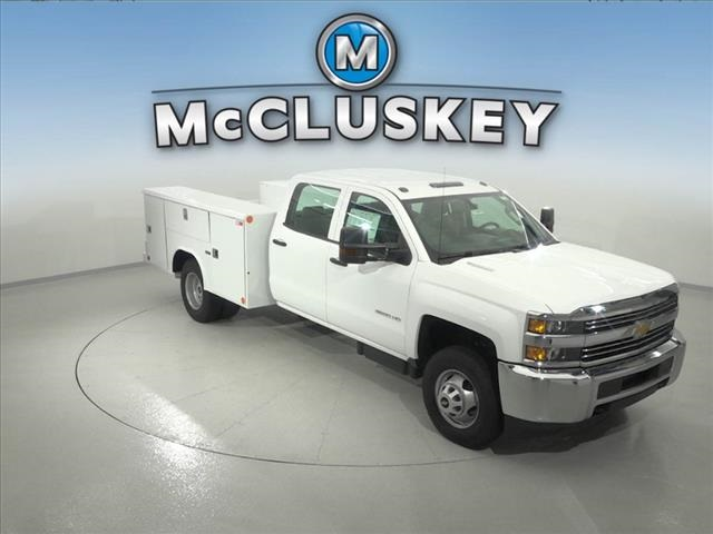 2016 Silverado 3500 Crew Cab DRW 4x2,  Reading Classic II Steel Service Body #162859 - photo 3