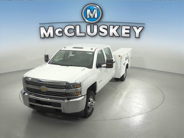 2016 Silverado 3500 Crew Cab DRW 4x2,  Reading Classic II Steel Service Body #162859 - photo 6