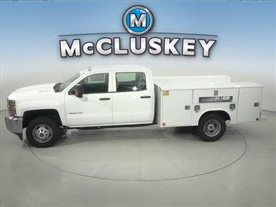 2016 Silverado 3500 Crew Cab DRW 4x2,  Reading Classic II Steel Service Body #162859 - photo 8