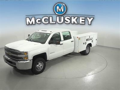 2016 Silverado 3500 Crew Cab DRW 4x2,  Reading Classic II Steel Service Body #162859 - photo 1