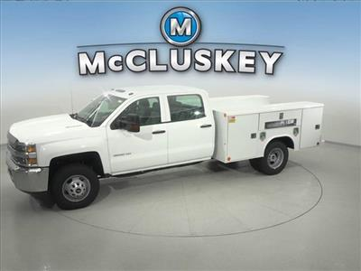 2016 Silverado 3500 Crew Cab DRW 4x2,  Reading Classic II Steel Service Body #162859 - photo 7