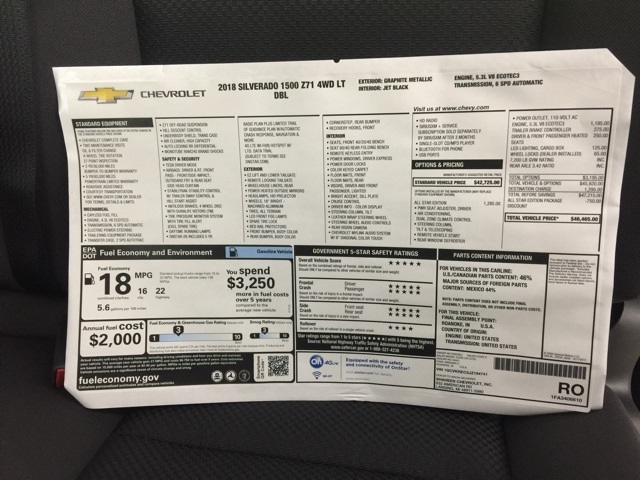 2018 Silverado 1500 Extended Cab 4x4 Pickup #73318 - photo 3