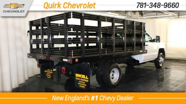2018 Silverado 3500 Regular Cab DRW 4x4, Reading Stake Bed #C58036 - photo 2