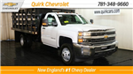 2018 Silverado 3500 Regular Cab DRW 4x4, Reading Stake Bed #C58036 - photo 1