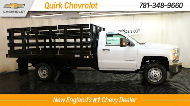 2018 Silverado 3500 Regular Cab DRW 4x4, Reading Stake Bed #C58037 - photo 3