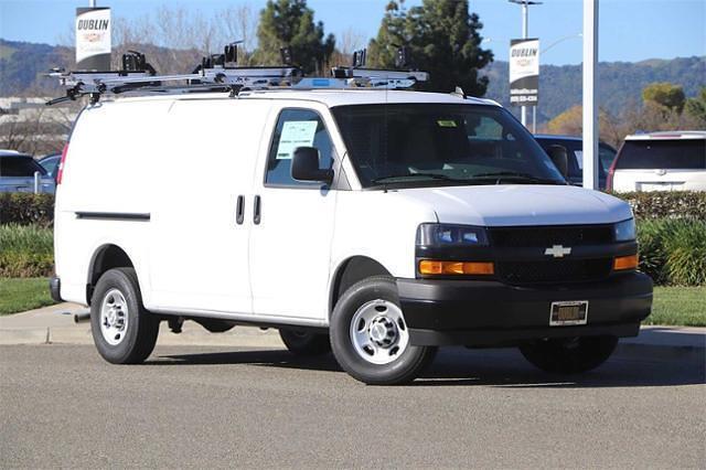 2021 Chevrolet Express 3500 4x2, Upfitted Cargo Van #C42031 - photo 1