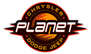 Planet Dodge Chrysler Jeep logo
