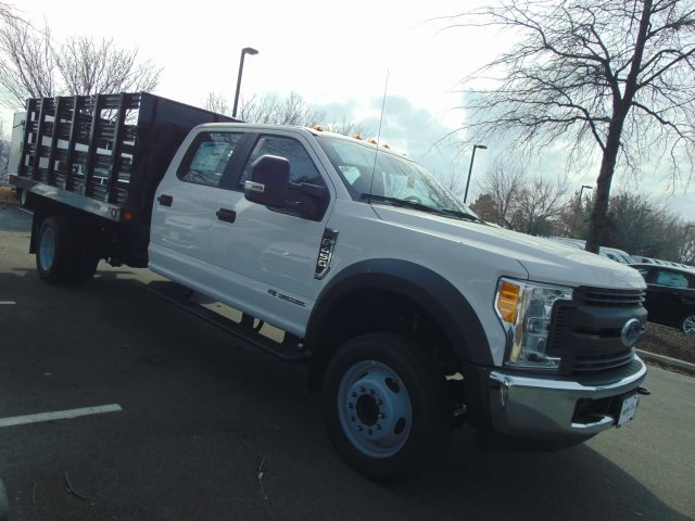 2017 F-450 Crew Cab DRW, Reading Steel Stake Bodies Stake Bed #179336F - photo 3