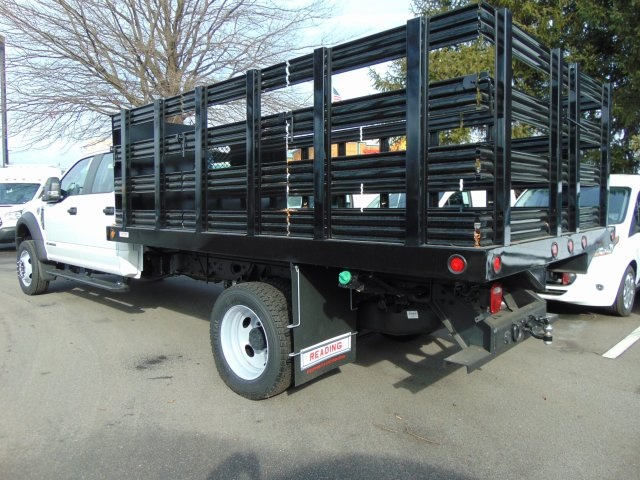 2017 F-450 Crew Cab DRW, Reading Steel Stake Bodies Stake Bed #179336F - photo 2