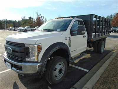 2018 F-450 Regular Cab DRW, Reading Steel Stake Bodies Stake Bed #185497F - photo 1