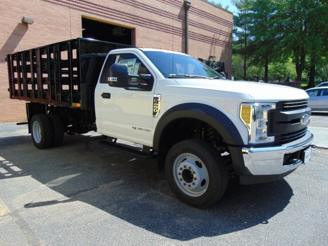 2018 F-450 Regular Cab DRW 4x2,  PJ's Truck Bodies & Equipment Stake Bed #186220F - photo 3