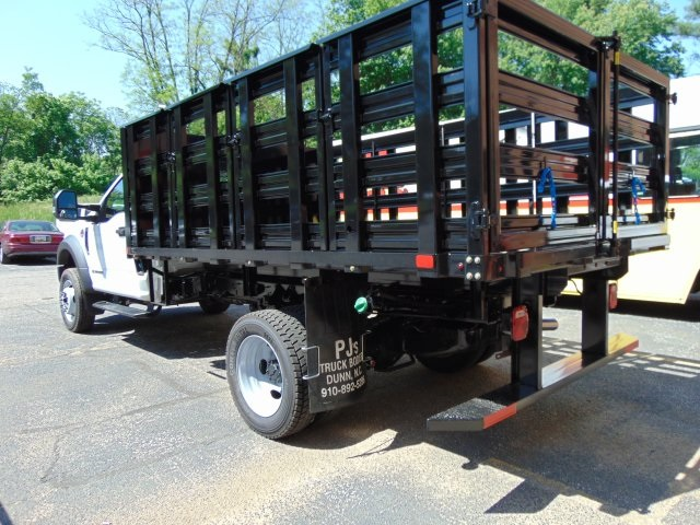 2018 F-450 Regular Cab DRW 4x2,  PJ's Truck Bodies & Equipment Stake Bed #186220F - photo 2