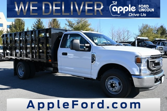 2021 Ford F-350 Regular Cab DRW 4x4, PJ's Stake Bed #215204F - photo 1