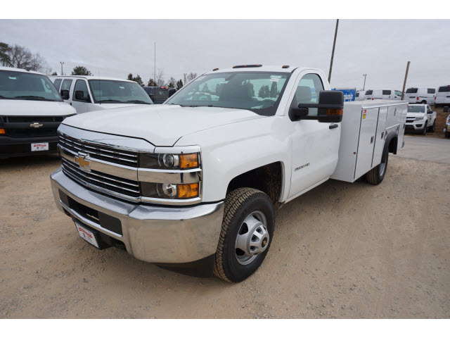 2018 Silverado 3500 Regular Cab DRW 4x4,  Monroe Service Body #TR67684 - photo 10