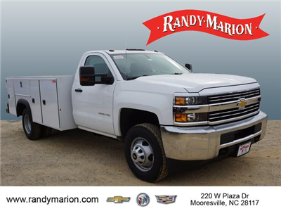 2018 Silverado 3500 Regular Cab DRW 4x4,  Monroe Service Body #TR67684 - photo 1