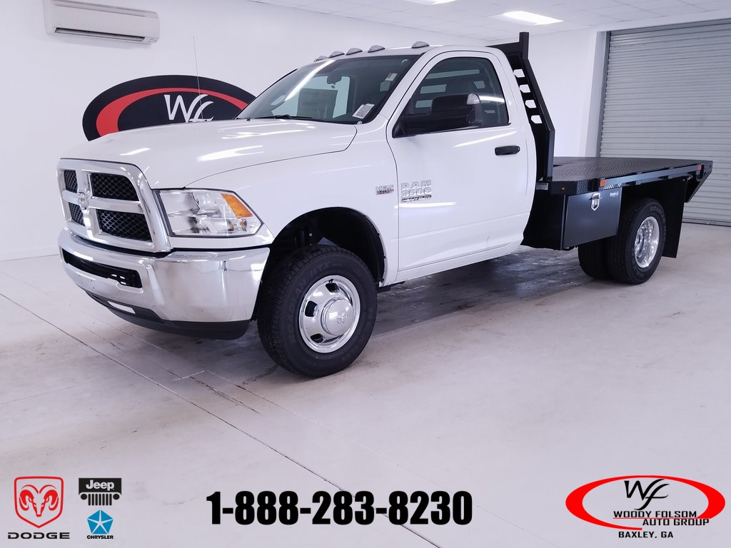 2018 Ram 3500 Regular Cab DRW 4x4,  Commercial Truck & Van Equipment CTVE Goosenecks Platform Body #DT011682 - photo 1