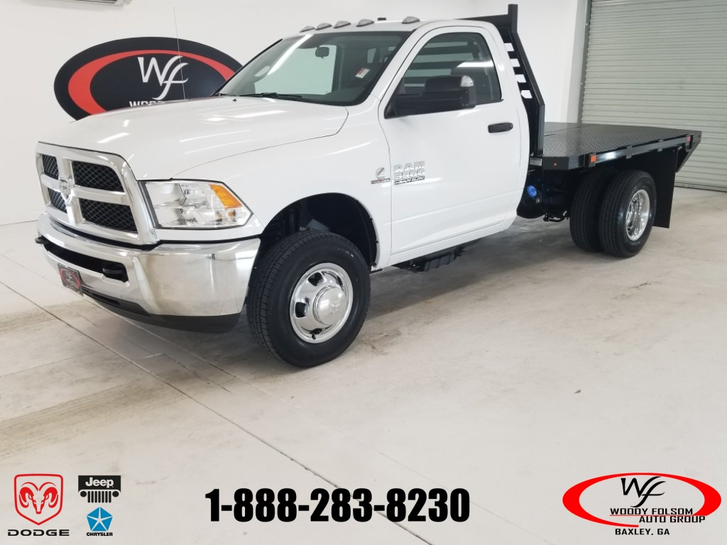 2018 Ram 3500 Regular Cab DRW 4x2,  Commercial Truck & Van Equipment CTVE Goosenecks Platform Body #DT022081 - photo 1