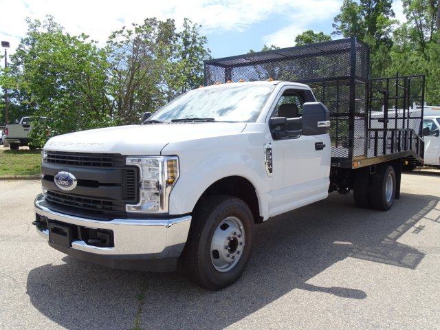 2018 F-350 Regular Cab DRW 4x2,  PJ's Truck Bodies & Equipment Dovetail Landscape #T890235 - photo 3