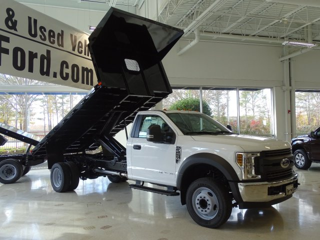 2019 F-450 Regular Cab DRW 4x2,  PJ's Truck Bodies & Equipment Platform Body #T989216 - photo 3