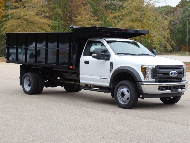 2019 F-450 Regular Cab DRW 4x2,  PJ's Truck Bodies & Equipment Landscape Dump #T989218 - photo 3