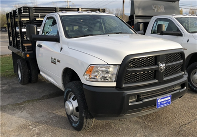 2017 Ram 3500 Regular Cab DRW 4x4, Reading Steel Stake Bodies Stake Bed #T17297 - photo 4