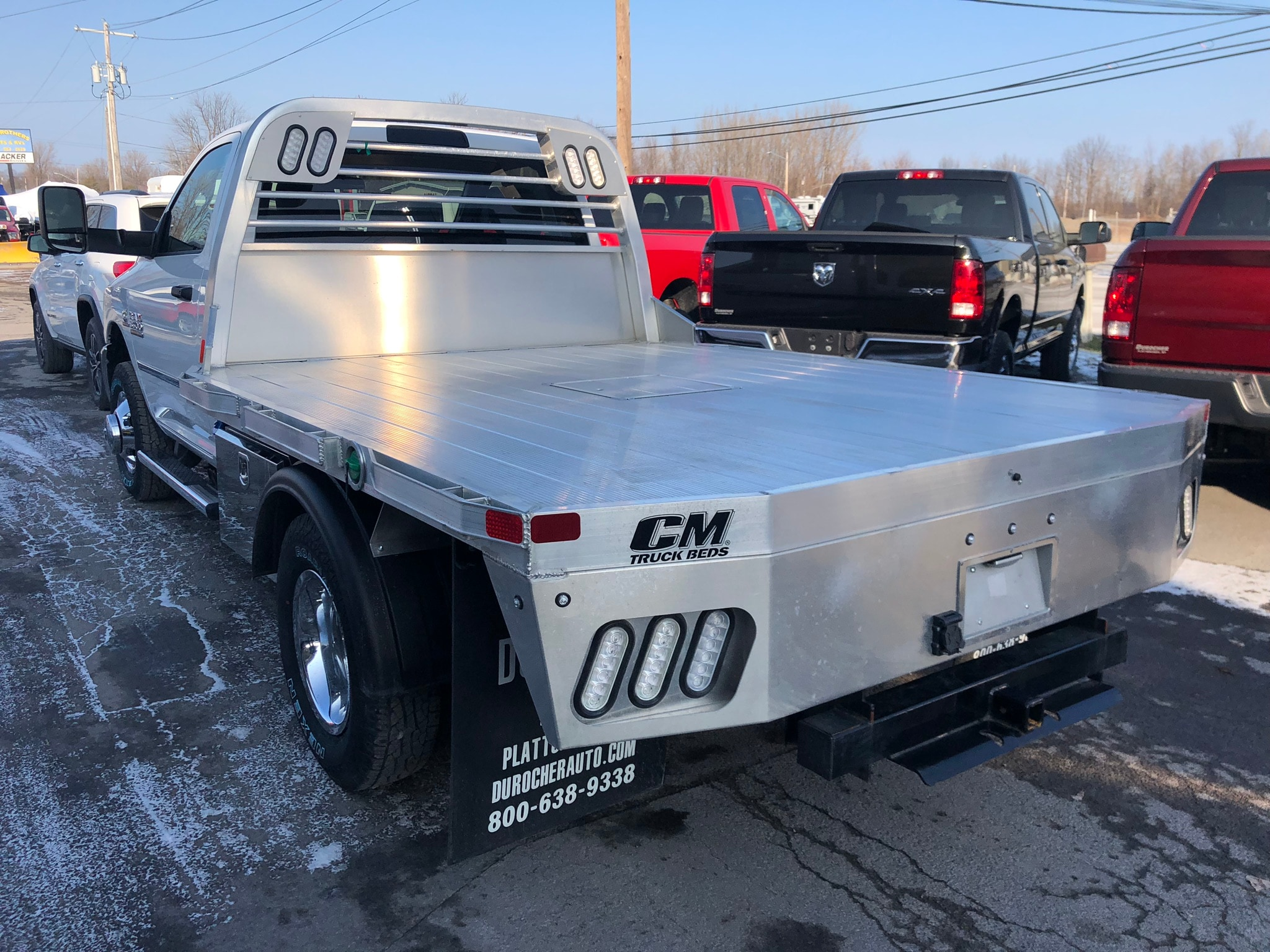 2018 Ram 3500 Regular Cab DRW 4x4,  CM Truck Beds Platform Body #T18319 - photo 2