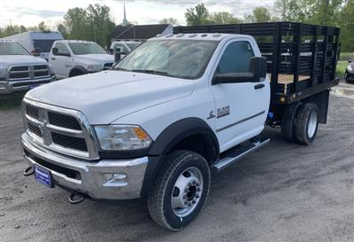 2018 Ram 5500 Regular Cab DRW 4x4,  Reading Steel Stake Bed #T18355 - photo 1
