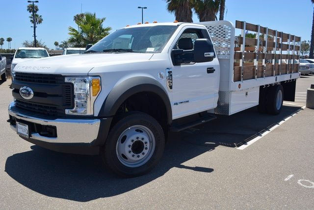 2017 F-550 Regular Cab DRW, Scelzi Flatbed Stake Bed #1081507 - photo 1