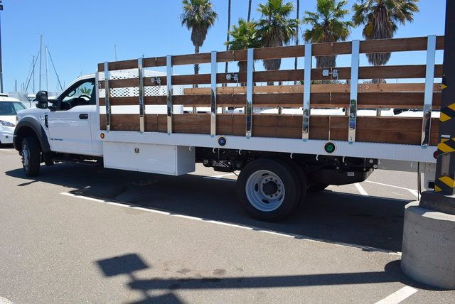 2017 F-550 Regular Cab DRW, Scelzi Flatbed Stake Bed #1081507 - photo 2