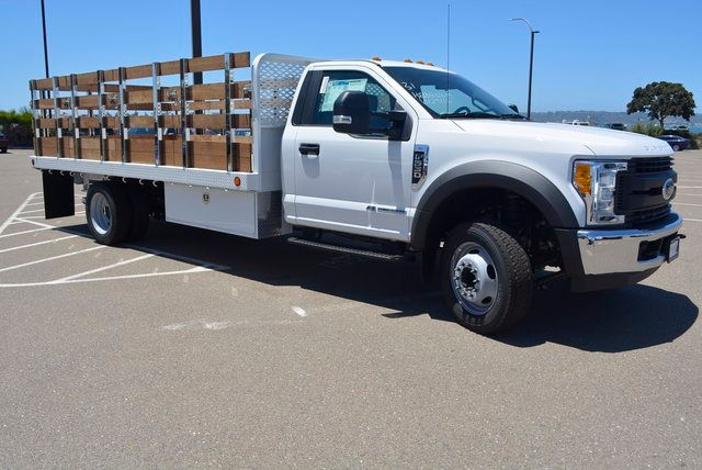 2017 F-550 Regular Cab DRW, Scelzi Flatbed Stake Bed #1081507 - photo 5