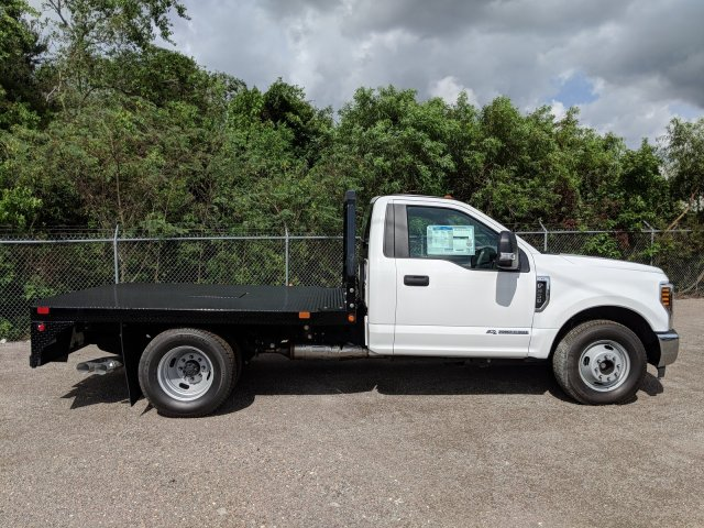 2018 F-350 Regular Cab DRW 4x2,  Bedrock Flatbed Body #J6251 - photo 5