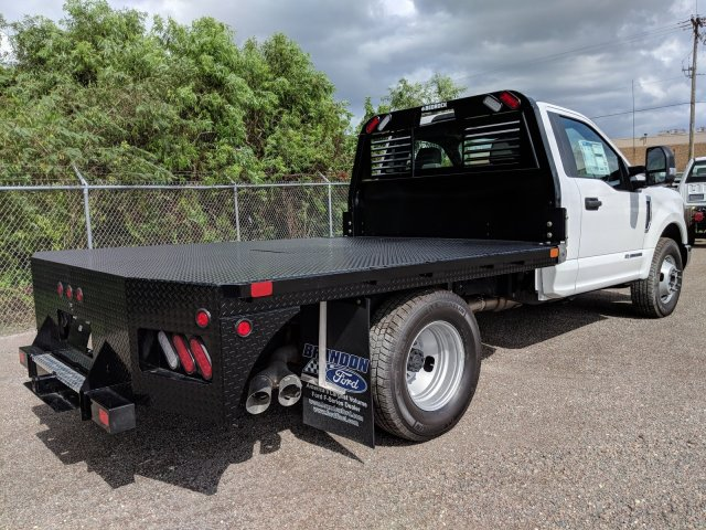 2018 F-350 Regular Cab DRW 4x2,  Bedrock Flatbed Body #J6251 - photo 2