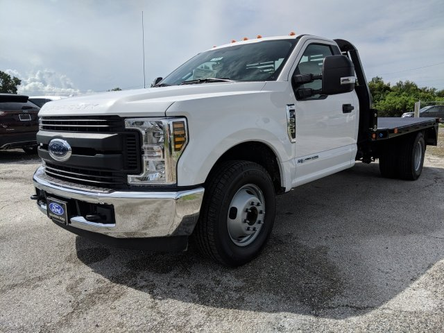 2018 F-350 Regular Cab DRW 4x2,  Bedrock Flatbed Body #J6307 - photo 5