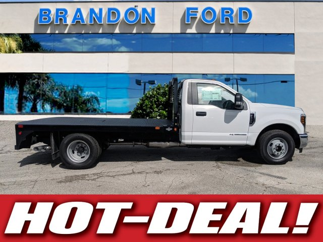 2018 F-350 Regular Cab DRW 4x2,  Bedrock Flatbed Body #J6307 - photo 26