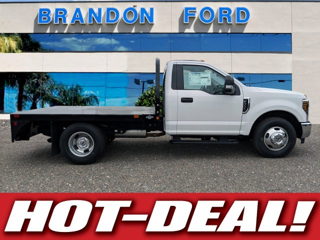 2019 F-350 Regular Cab DRW 4x2,  Bedrock Flatbed Body #K0974 - photo 1