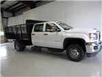 2017 Sierra 3500 Crew Cab DRW 4x4, Action Fabrication Landscape Dump #G03030 - photo 3