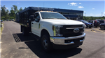 2018 F-350 Regular Cab DRW 4x4,  Reading Redi-Rack Stake Bed #4184244 - photo 4