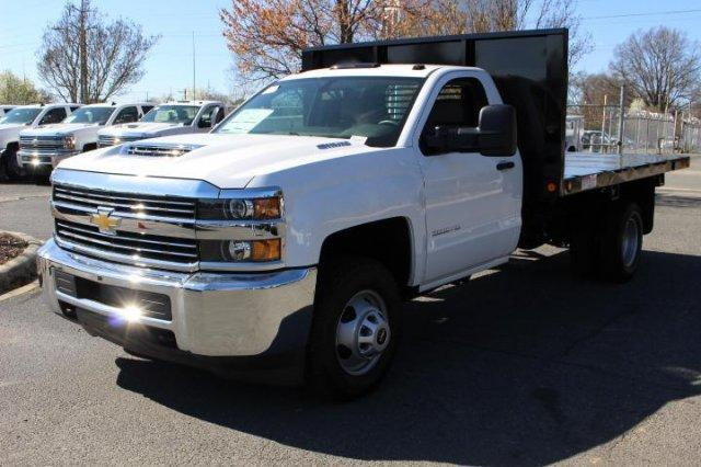 2018 Silverado 3500 Regular Cab DRW 4x4,  Platform Body #M121519 - photo 3