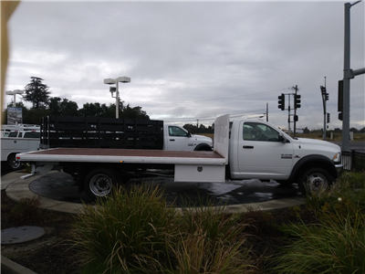 2017 Ram 5500 Regular Cab DRW 4x4, Harbor Black Boss Flatbed Platform Body #00017145 - photo 3